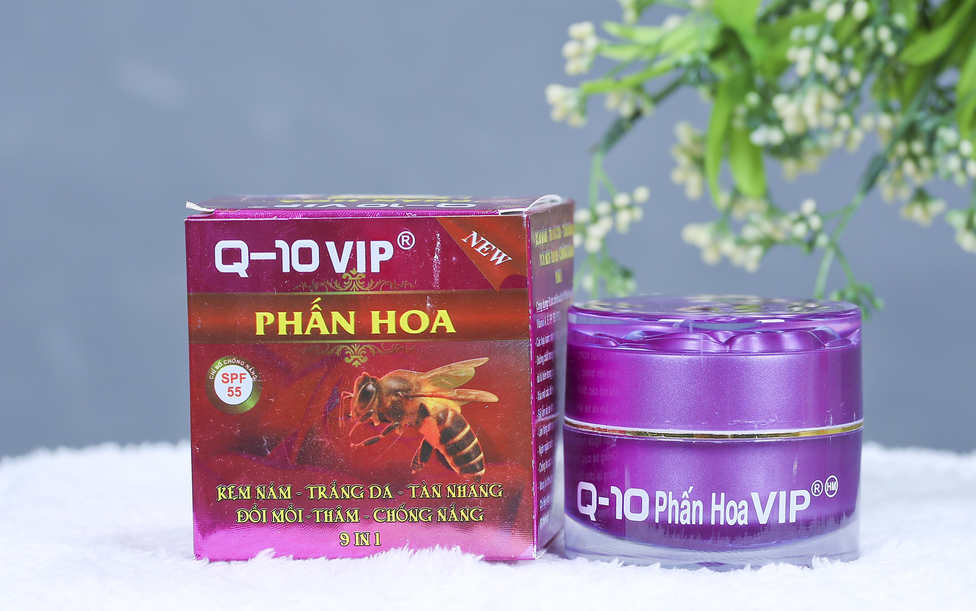 Kem Trị Nám Trắng Da Phấn Hoa Q10  VIP