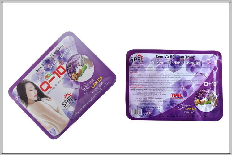 Kem và bột tắm trắng Ốc sên - Sữa dê - Lavender Q10